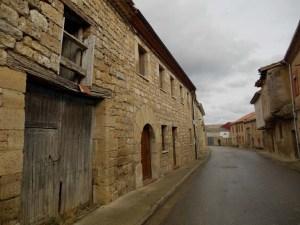 Hornillos del Camino and its vacant main street.