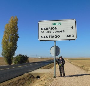 Smack in the middle of the meseta, with hundreds of kilometers to go