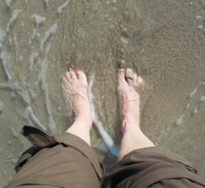 My feet require more TLC than being rinsed at Finisterre.