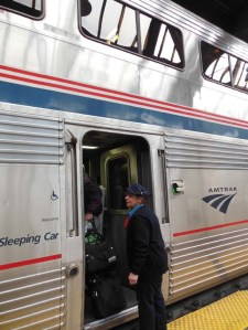 All aboard Amtrak's doubledecker albergue!