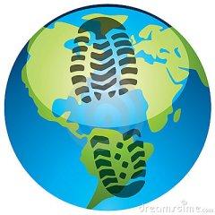 footprint-on-the-earth-globe-thumb20264726