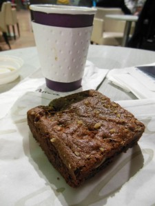 A kosher for Passover brownie at Ben Gurion Airport