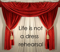 life-is-not-a-dress rehearsal