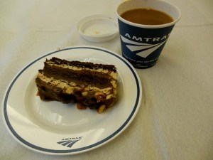 Amtrak peanut butter and chocolate torte